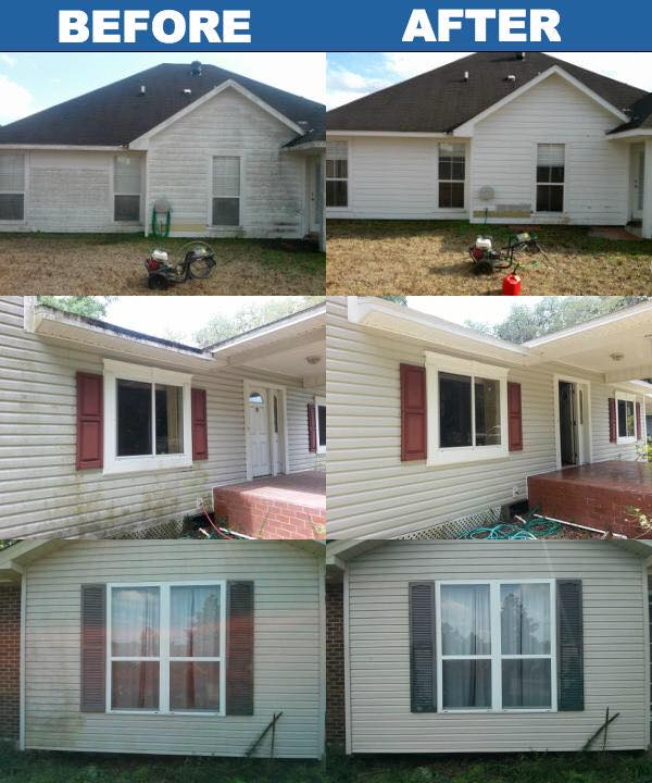 Red Deer Residential Pressure Washing Services Before and After