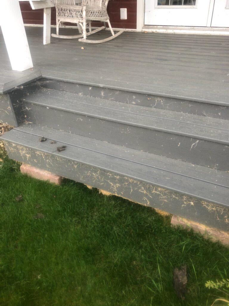 Dirty Stairs Need pressure washing in Sylvan Lake