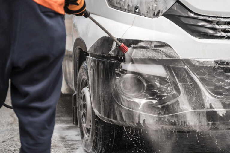 Nuance Pressure Washing Services offers fleet pressure washing services