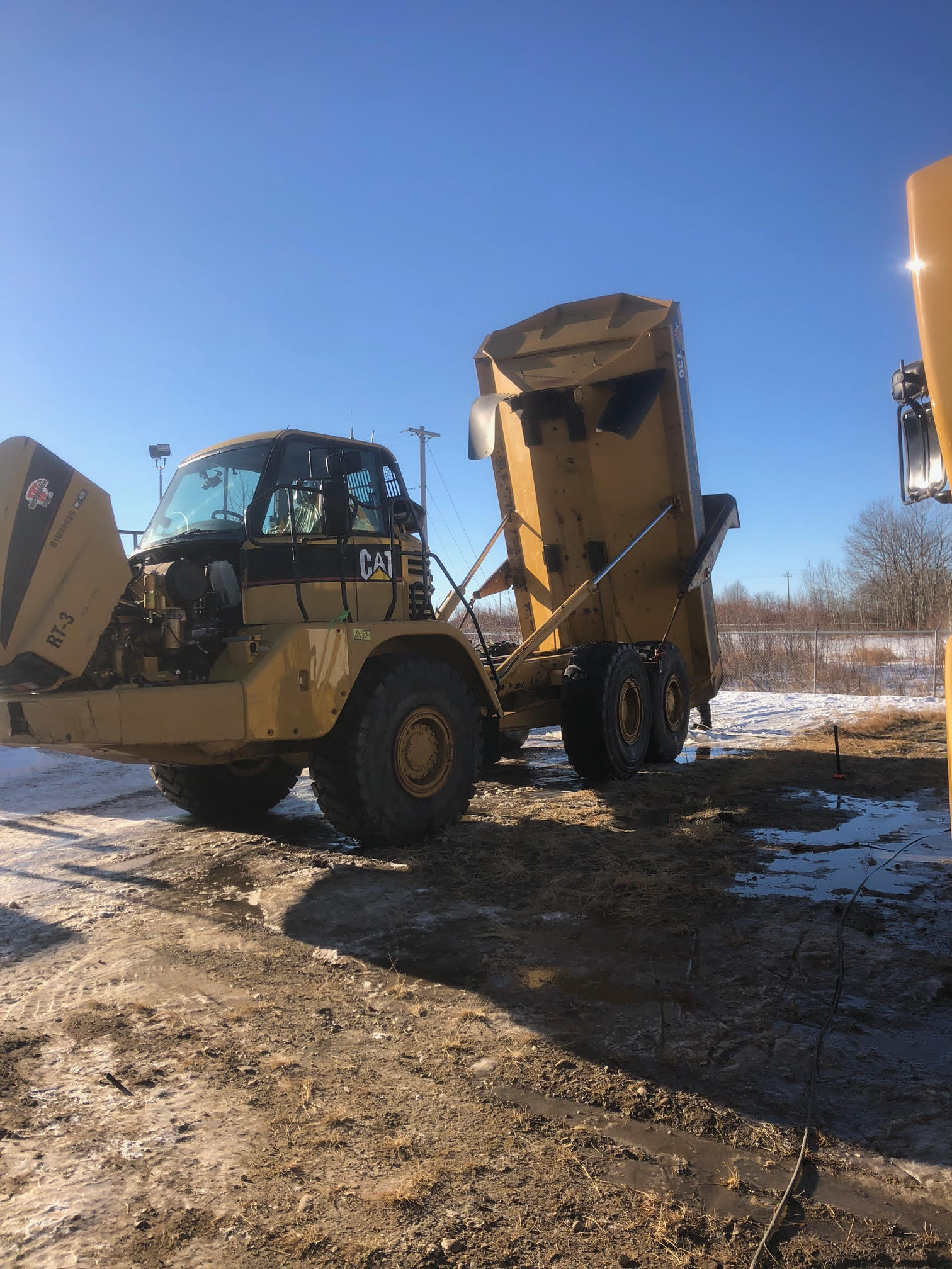 Heavy equipment cleaned by Nuance Pressure Washing Services